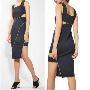 🆕Topshop Sexy Piped Cutout Bodycon Midi Dress 4